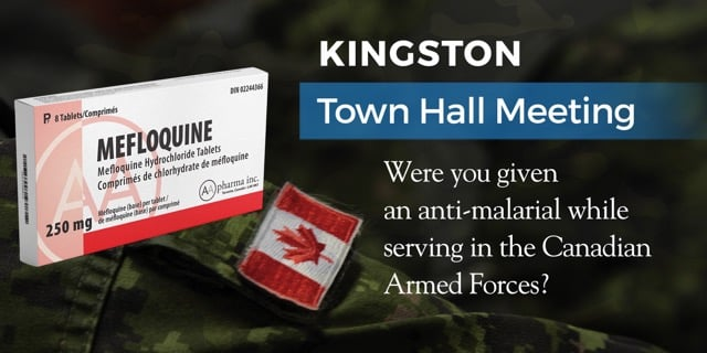 April 27, 2019 — Mefloquine Town Hall Meeting in Kingston