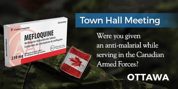 March 24, 2019 — Mefloquine Town Hall Meeting in Ottawa
