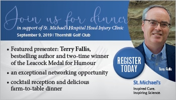 September 9, 2019 — Dinner Supporting St. Mike's Head Injury Clinic