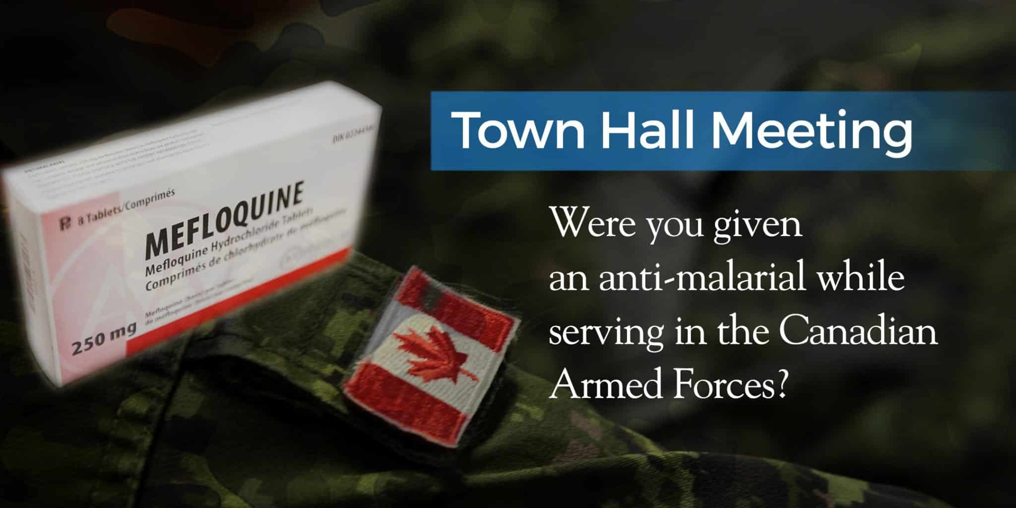 February 10, 2019:  Mefloquine Town Hall Meeting, Toronto