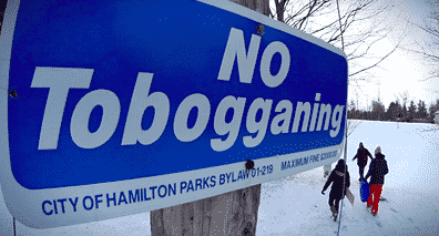 No Tobogganing - City of Hamilton