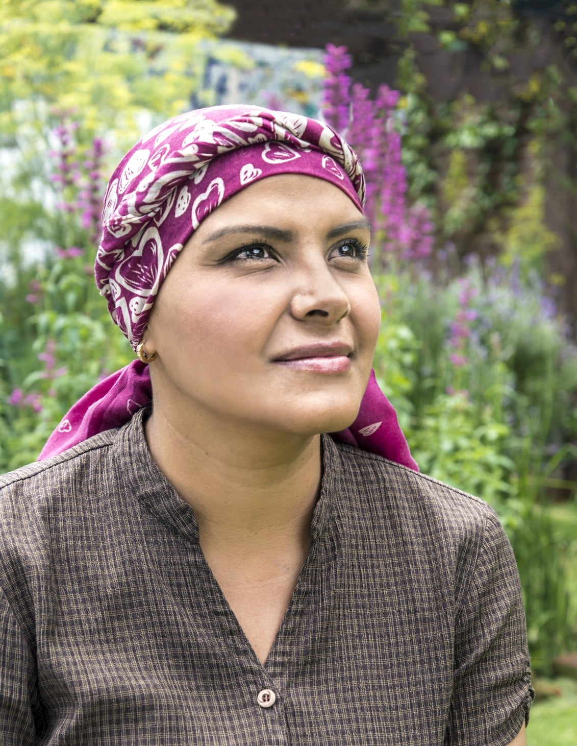 This beautiful woman is under chemotherapy treatment to cure breast cancer