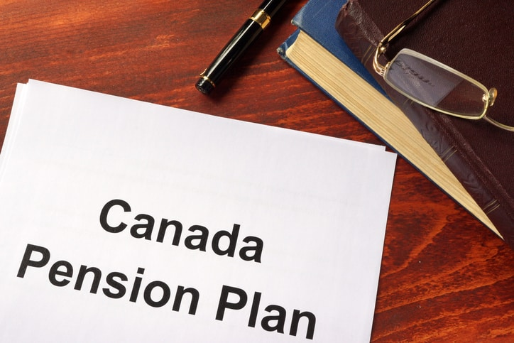 Canada Pension Plan CPP written on a sheet .
