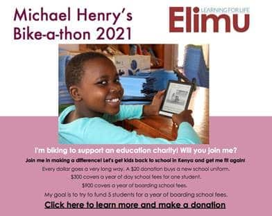 Michael Henry Rides for Elimu