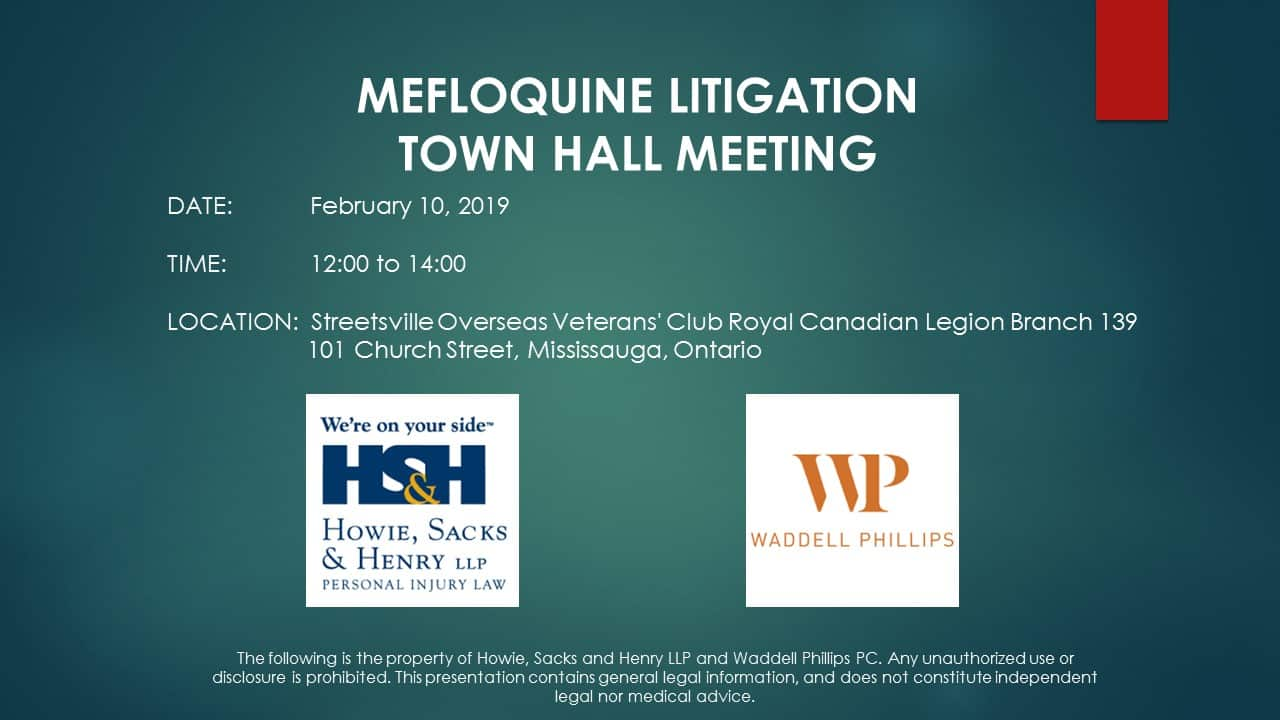 February 10, 2019–Mefloquine Town Hall Makes its First Stop in Toronto